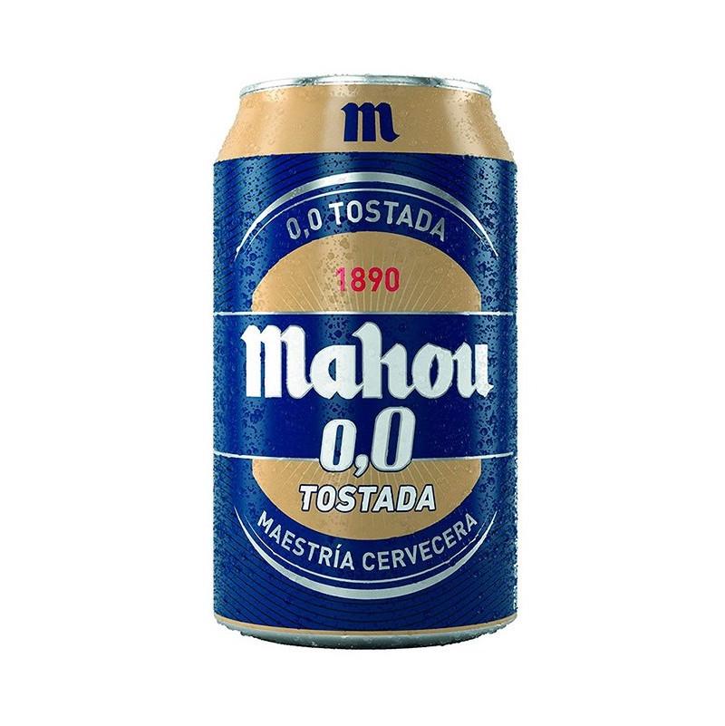 cerveza mahou tostada 0,0 lata 33 cl